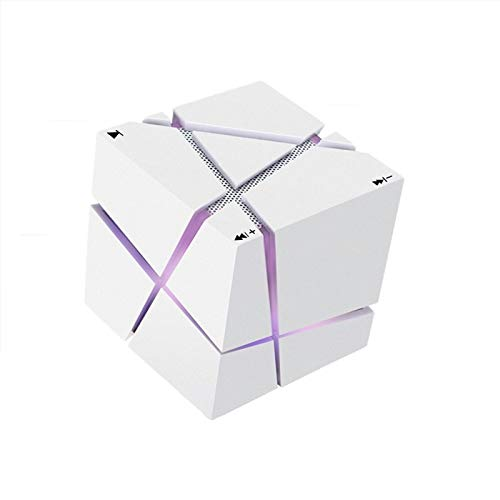 Lámpara De Mesa con Luz Nocturna LED RGB, Mini Subwoofer Portátil Rubik'S Cube con Altavoz Bluetooth HiFi, Altavoz Bluetooth...