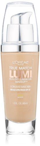 L'Oreal True Match Lumi Healthy Luminous Makeup, Natural Beige [W4] 1 oz