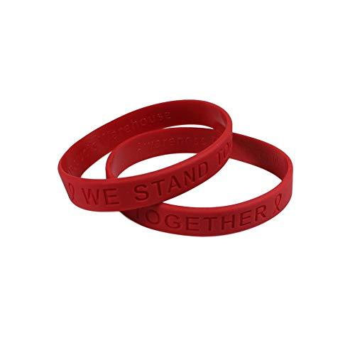Coronavirus / COVID 19 Awareness Silicone Bracelet 25 Pack