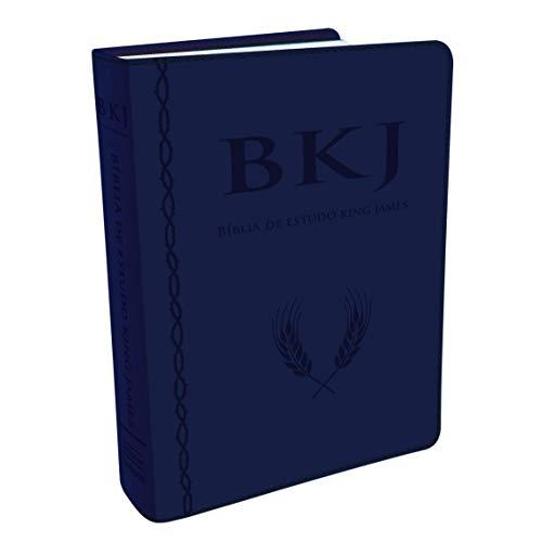 Bíblia King James com Estudo Holman Azul - Caixa