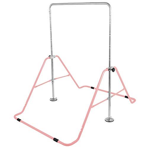 Ukik Série de Barres de Gymnastique Barre Horizontale Ajustable Gymnastique Junior Training Kip Bar Barre de Gymnastique Extensible Junior pour Enfants (Rose)