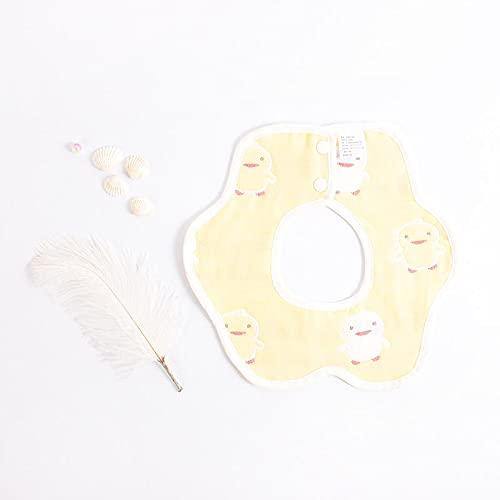 delantal Alimentación delantal babets baberos 360 grados rotación 6 capas gasa muselina bebé niños bandana burp tela recién nacido infante saliva toalla Antiincrustante ( Color : 4 , Size : One Size )