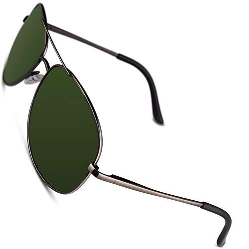 CGID GA03 Prima de aleación Al-Mg duplicadas completas Pilot gafas de sol polarizadas UV400,bisagras de resorte gafas de sol para Hombres Mujeres