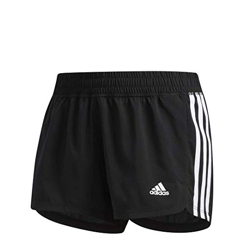 adidas Women's Pacer 3-Stripes Woven Shorts, Core Black/White, Small