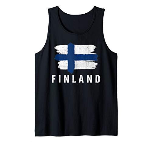 Gemalte Finnland Fahne / Finnische Flagge Fan Geschenk Tank Top