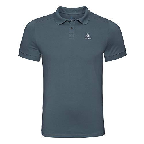 Odlo Herren New Trim Poloshirt, Dark Slate, M