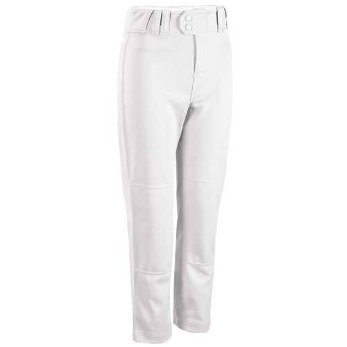 Rawlings Youth Relaxed Fit YBP350MR Baseball Pant, White, Youth Small