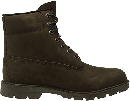 Timberland Herren 6 Inch Basic Non-Contrast Waterproof Stiefel, Braun (Dark Brown Nubuck), 43 EU