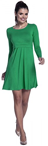 Zeta Ville – Stillen A-Linie Kleid Schwangere Rundhalsausschnitt – Damen – 128c (Grün) - 5