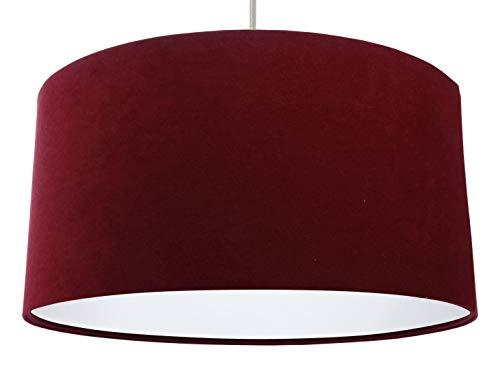 Aime - Lámpara de techo con estilo (50 cm de diámetro), color rojo y blanco