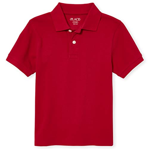 The Children's Place Boys' Little Short Sleeve Uniform Polo, CLASSICRED 4756, Small/5/6