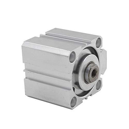 XBaofu 1pc SDA neumático Cilindro 50 mm Diámetro 5/10/15/20/25/30/40 mm Stroke aleación de Aluminio de Doble acción neumática componente de Cilindro (Color : SDA50x5)