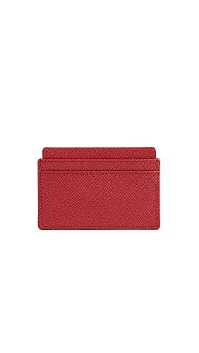 Smythson Women's Panama Card Case, Red, One Size
