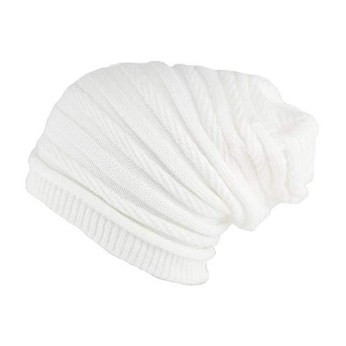 Nyls Création Bonnet Rasta Long Blanc Jack Mixte
