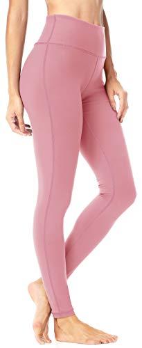 QUEENIEKE Yoga Leggings mit Tasche Klassische Bauchkontrolle Mittlere Taille Laufhose Workout Sporthose für Damen Farbe Rosa Größe M(8/10
