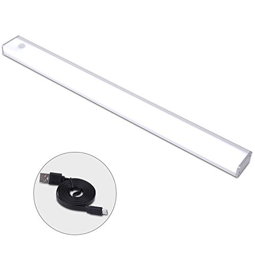 IQMASK LEDセンサーライト 人感センサーUSB充電式 マグネット付 省エネ 高輝度 超寿命 階段/廊下/玄関/押し入れ/洗面所 自動点灯 消灯 夜間ライト