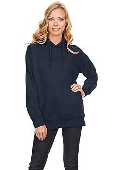 Simlu Navy Hoodie Long Sleeve Navy Sweatshirts Pullovers Navy Sweaters for Women XXX Large,Navy,XXX-Large