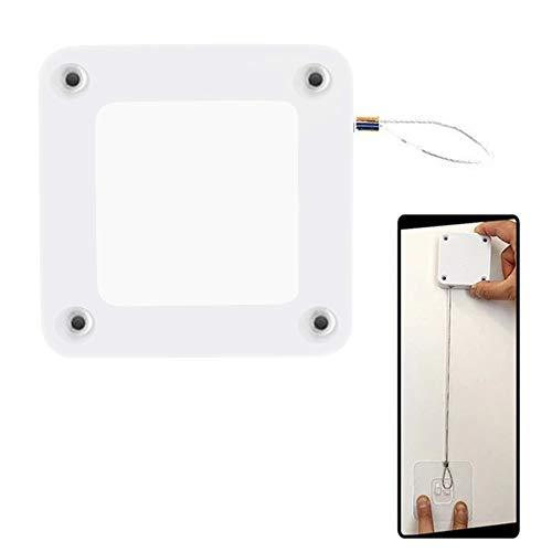 Bestine Automatischer Türschließer mit Sensor, Lochfreier Klebstoff, schließt automatisch Türschließer für die meisten Türen, Weiß