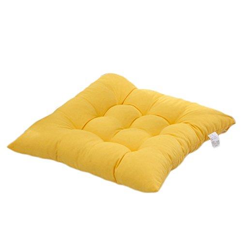 Worsendy stuhlkissen, Sitzkissen für drinnen und Bequemes Stuhlkissen Gartenkissen gesteppt,Besonders stark gepolstertes, weiches Sitzkissen (Gelb)