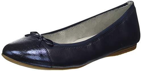 Tamaris Damen 1-1-22129-22 Geschlossene Ballerinas, Blau (Navy 805), 37 EU