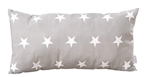 roba Dekokissen, Kissen Kollektion 'Little Stars' 30x60 cm, Deko für Baby- & Kinderzimmer, 100% Baumwolle