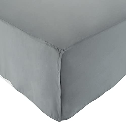 AmazonBasics Pleated Bed Skirt - Queen, Dark Grey