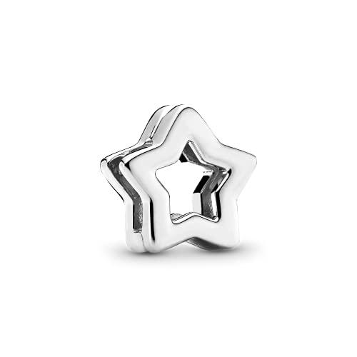 LIIHVYI Se Adapta A Pandora Original 925 Cuentas De Plata Esterlina Estrella Clip Joyería Pulsera Encanto Regalo