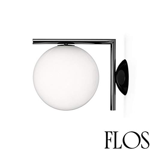 Flos IC C/W 1 wandlamp of plafondlamp zwart F3178030