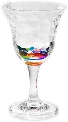 Merritt International 12oz Rainbow Cascade Wine Glass