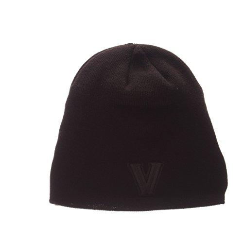 Zephyr Blackout Edge Schwarz Tonal Totenkopf Gap–NCAA Ohne Winter Knit Beanie Toque Hat, Villanova Wildcats