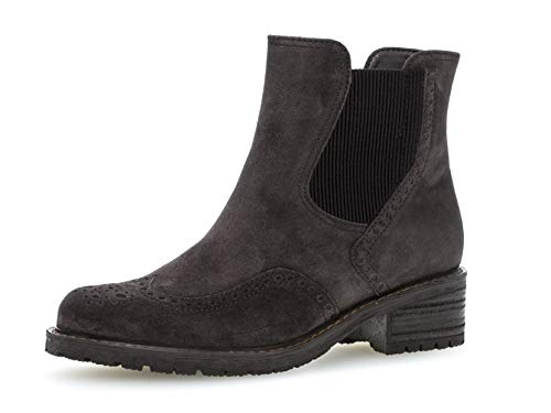 Gabor Damen Stiefelette 36.091, Frauen Chelsea Boots,Stiefel,Halbstiefel,Bootie,Schlupfstiefel,hoch,Dark Grey (Mel.),37 EU / 4 UK
