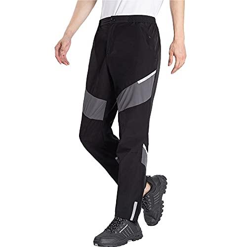 LY4U Pantaloni da Ciclismo da Uomo Pantaloni da Bici Lunghi con Tasche con Zip Pantaloni Estivi Traspiranti ad Asciugatura Rapida per Allenamento di Corsa Escursionismo in Campeggio