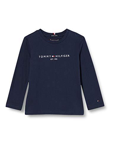 Tommy Hilfiger Jungen Essential Tee L/s Hemd, Twilight Navy, 92