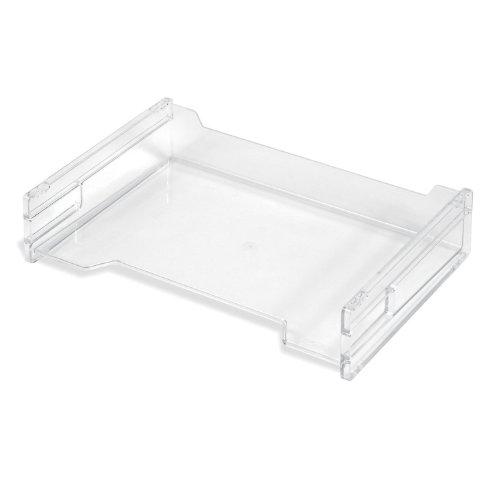 Herlitz 1610393 Ablagekorb A4 quer, transparent und stapelbar