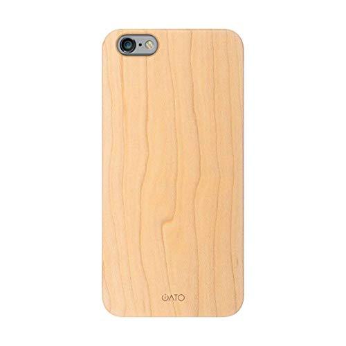 iATO iPhone 6s Plus / 6 Plus Wood Case. Real Maple iPhone 6s Plus / 6 Plus Case Wood. Minimalistic Classic Wood iPhone 6s Plus / 6 Plus Case – Real Natural Wooden Overlay & Black Polycarbonate Bumper
