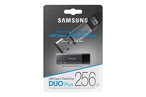 Samsung MUF-256DB/EU DUO Plus 256 GB Typ-C USB 3.1 Flash Drive Gunmetal Gray
