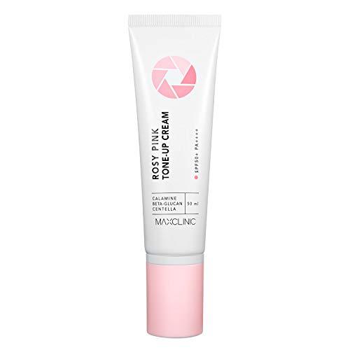 MAXCLINIC Rosy Pink Tone up Crème Natürliche Aufhellungscreme LSF50 + PA ++++ Makeup Base und Primer 50ml / 1,69 fl oz