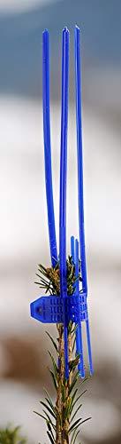 Signumat Lange, Blaue Schutzmanschetten, 100 Stück für schwache Terminaltriebe gegen Verfegen & Vögel