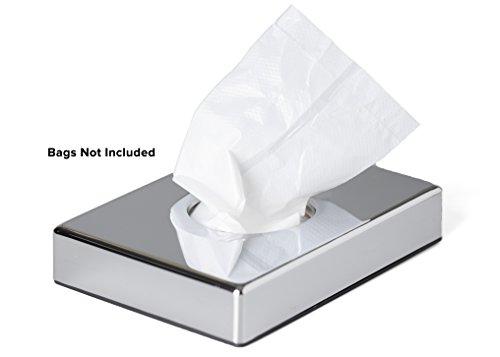 Mellcrest Hygienebeutelspender-Set, mit Hygienebeutel, Nachfüllpackung, Chrom-Oberfläche Sanitary Bag Dispenser