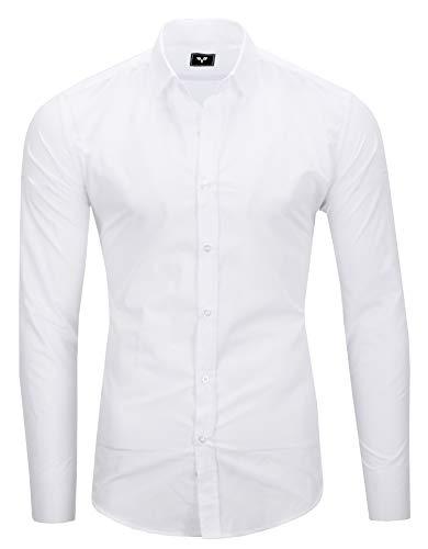 Kayhan Herren Hemd, TwoFace als Uni Weiß XXL