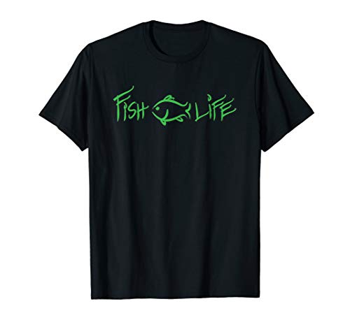 Fish Life, Bass Fishing shirt for fishermen and fisherwomen! T-Shirt