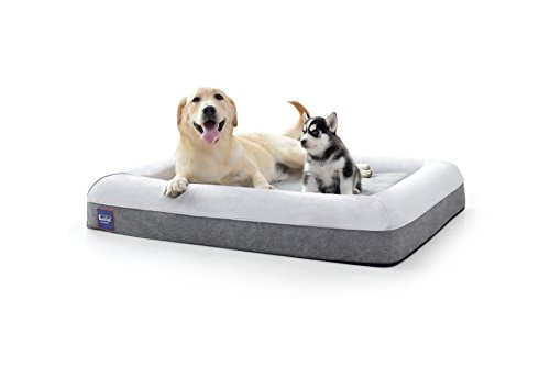 """Laifug Orthopedic Memory Foam Large Dog Bed Dog Couch with Durable Water Proof Liner and Removable Washable Cover (Large(43""""x36""""x7""""), Slate Grey)"""