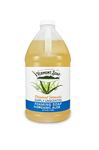 Vermont Soap Organic Unscented Foaming Hand Soap - Natural Moisturizing Soap for Dry Skin -...