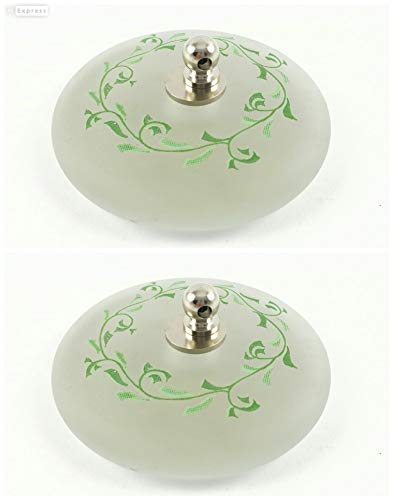 ABC baño Tapón Lavabo de Cristal 2 udes Laurel Verde