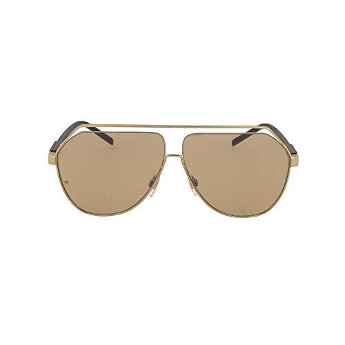 Gafas de Sol Dolce & Gabbana GROS GRAIN DG 2266 Gold/Brown Shaded 63/9/145 hombre