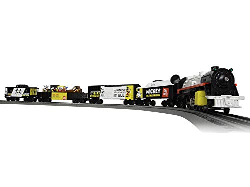 Lionel Mickey Celebration, Electric O Gauge Model Train Set, Remote with Bluetooth Compatibility, Multi