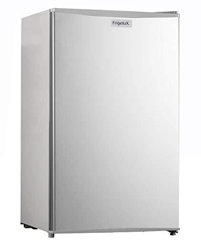 Frigelux - Mini Réfrigérateur Bas - Table Top TOP93SA+ - 94L dont Freezer 8L - Porte réversible - Classe Énergétique A+ - Pose libre - Dégivrage Automatique - Garantie 2 ans - Silver