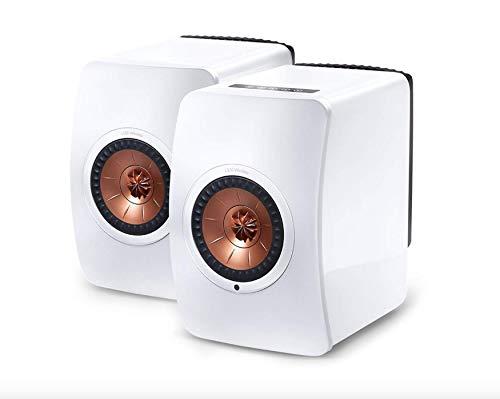KEF Coppia Diffusori Amplificati 2 Vie UNI-Q Bass Reflex KEF LS-50 - Bianco / Rame
