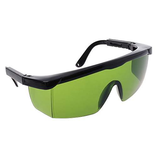 Xuebai Gafas de protección Gafas de Seguridad láser Gafas de Ojo Azul Verde Gafas de Seguridad Protectoras Verde Militar