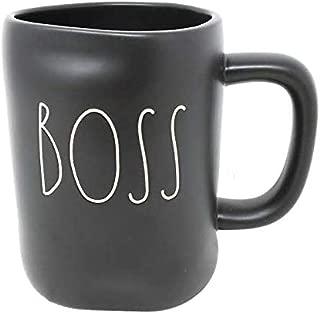 rae dunn black boss mug